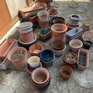 使い古した植木鉢