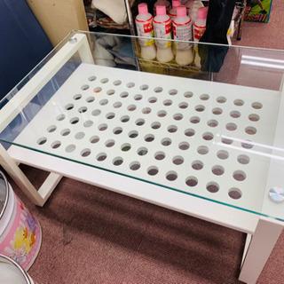 ◆可愛いオシャレなガラステーブル