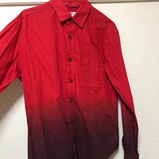 メンズ シャツ 赤 レッド