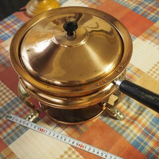 北欧風のホームパーティー用ウオーマー 銅製