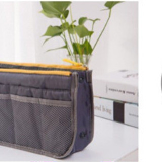 【未使用】バッグインバッグ 軽い 旅行 ポーチ 大容量 収納 グレー