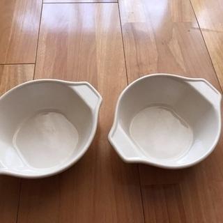 美品Francfrancフランフラン【オフホワイト】耐熱皿セット