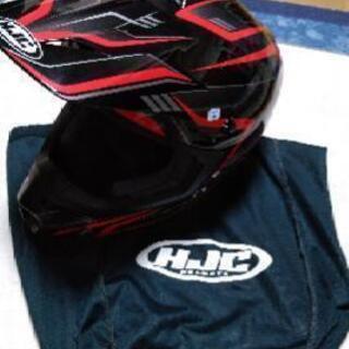 HJC オフロード用ヘルメット サイズM 赤