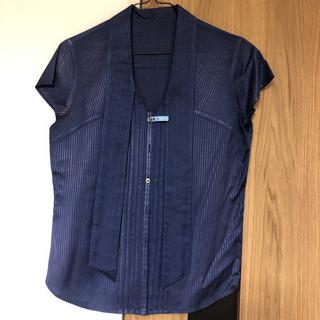 【クリーニング済】【NOLLEY'S Light】ブルーの半袖シャツ