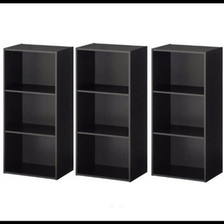 ウッドブラック カラーボックス 3個セット