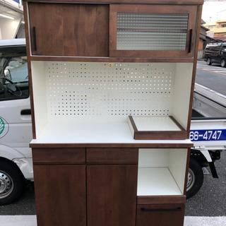 食器棚 レンジボード キッチン収納(ダブルデイ・アレッタ)幅1...