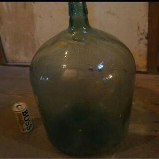 ガラス瓶 大 美品 昭和レトロ 貯金箱などオブジェに!