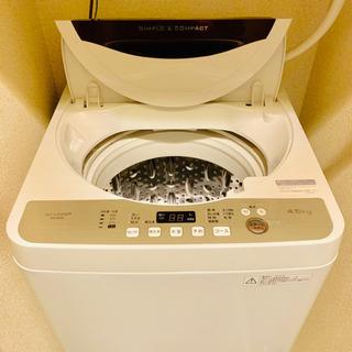 【10/19まで】SHARP 洗濯機 ES-GE4B 4.5kg...