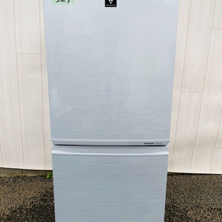 327番 SHARP✨ノンフロン冷凍冷蔵庫❄️SJ-PD14W-S‼️