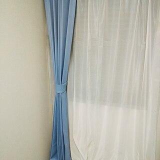 ≪ニトリ 遮光カーテン 両開き≫ 巾100㎝×2枚、丈200㎝ ...
