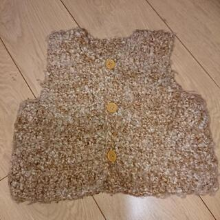 ハンドメイド  毛糸のベスト  70~80センチ