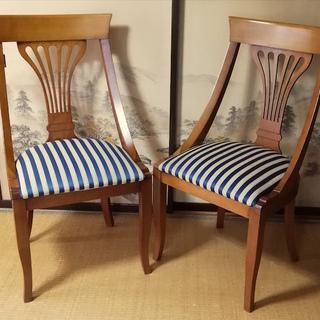 至急! イタリア製クラシック調チェア 椅子 2個セット 激安 ア...