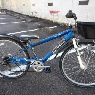 中古子供自転車675  子供自転車 26インチ 6段ギヤ LED...
