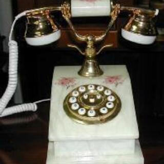 ☆★アンティーク調 大理石調 高級電話機 15140