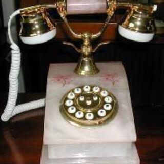 放出★アンティーク 大理石調 高級電話機 15160