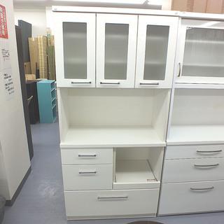 キッチンボード 鏡面白 ホワイト ハイタイプ 食器棚 ¥20,0...
