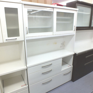 人気キッチンボード 鏡面白 ホワイト ハイタイプ 食器棚 ¥32...