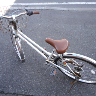 JESSIE town 自転車 24インチ ホワイト 白 6段...