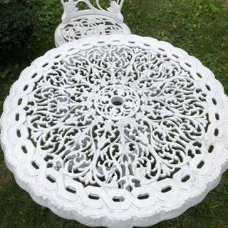 ガーデンテーブル&椅子2脚 アイアン
