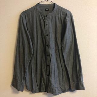 【美品】UNIQLO ノーカラーシャツ