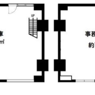 倉庫付き事務所♫メゾネットタイプ♫前面道路広いですよ♫