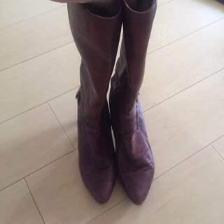 本革ブーツ 24cm