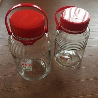果実酒作りの瓶 二本   中古