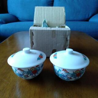 【香泉作】有田焼 湯呑み茶碗 蓋付き 2客