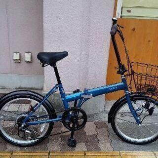 THRIFT[スリフト]20吋 折り畳み自転車 外装6段/ブルー