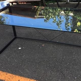 ガラス デスク 机 幅158×奥行76.5×高さ74cm ガラス...
