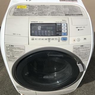 ◆ 日立電気洗濯乾燥機 BD-V3500L 洗濯 9.0kg 乾...