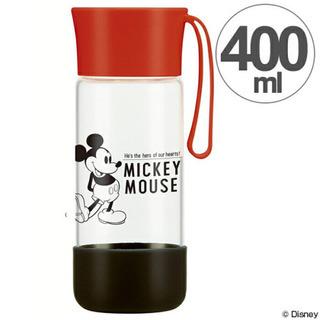 【新品】ミッキー 耐熱ガラス製 スタイリッシュボトル