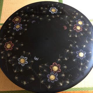 漆塗り丸型ローテーブル 和風