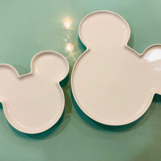 ミッキー ホワイト 平皿 2枚set