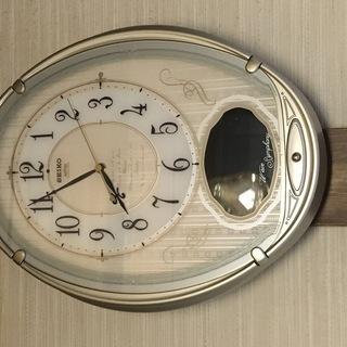SEIKO 電波 掛け時計 ウェーブシンフォニー AM222S ...