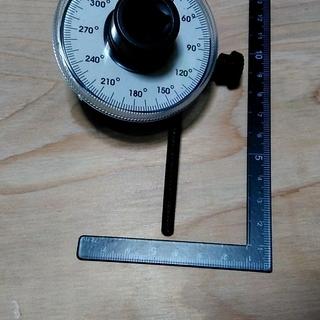 工具 トルクアングルゲージ 1/2インチ  トルク角度ゲージレンチ付き