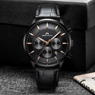 高品質 レザーベルト腕時計‼️新品