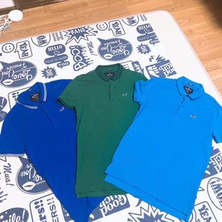 値下げ!🆕🉐新品未使用品含む:HOLLISTER ポロシャツ3枚...