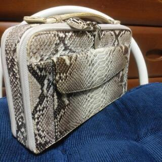 蛇皮セカンドバック