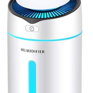 加湿器 空気浄化機 除菌 七色LEDライト 乾燥/花粉