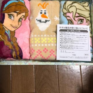 未使用 ディズニー アナと雪の女王 フェイスタオルセット