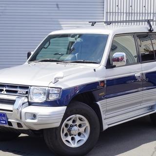 三菱 パジェロ エクシード ワイド シルバー 4駆SUVならこれ...