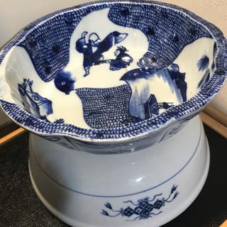 大きな鉢2個セット‼️①骨董⁉️貫入有り、②新品❗️