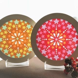 10/26-秋の色で光を楽しむ、紙のステンドグラス《ローズウィン...