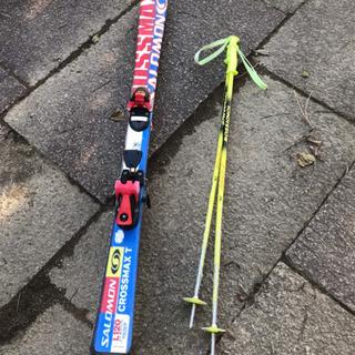 スキー板とストック