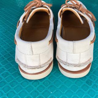 メンズ 白 革靴