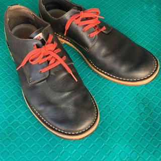 camper メンズ 黒革靴