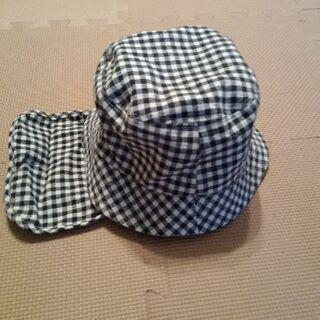【美品】帽子 52センチ 収納型ネックカバー付き