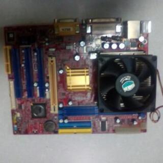 メーカー不明 MicroATX CPU付マザーボード ジャンク品扱い