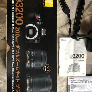 カメラ Nikon 3200 200mm ダブルズームキット